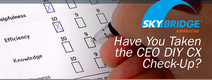 Have You Taken the CEO DIY CX Check-Up?