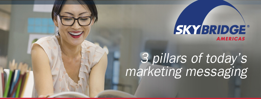 3 pillars of today's marketing messaging